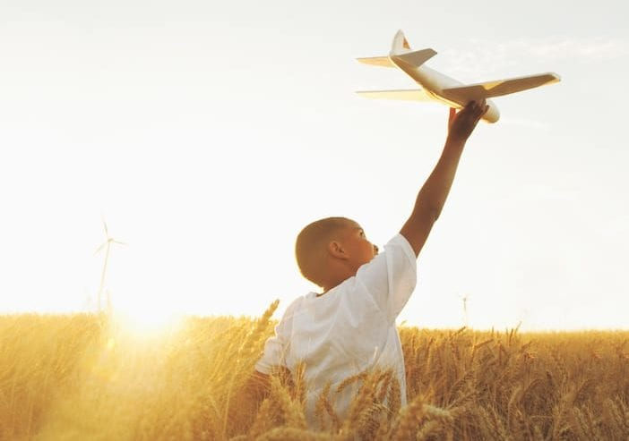 Boy with plane
